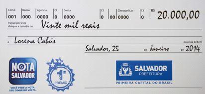NOTA FISCAL SALVADOR 2018 / Consultar Premios, Login, Cadastro, Créditos